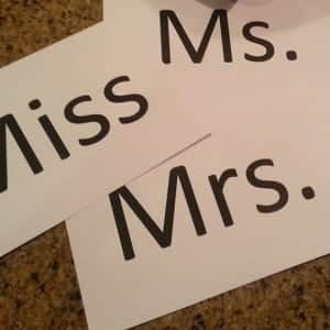 ms, miss and mrs