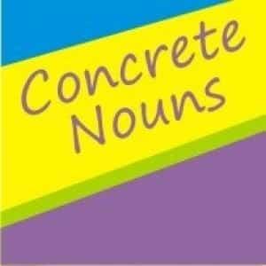 Concrete noun