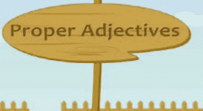 Proper adjectives