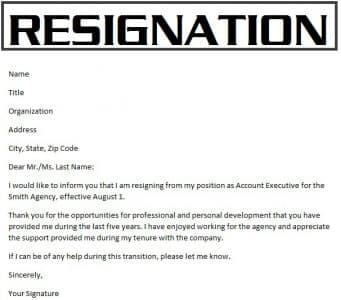 Resignation letter (Surat Pengunduran Diri): Pengertian, Struktur, Dan Contohnya Dalam Bahasa Inggris