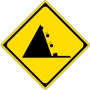 falling stone