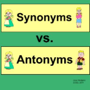 synonym-antonym