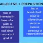 adjectivepreposition