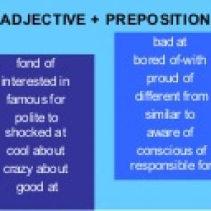adjectivepreposition