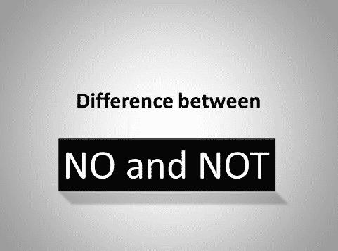 Perbedaan No dan Not Beserta Contoh Kalimatnya Dalam Bahasa Inggris