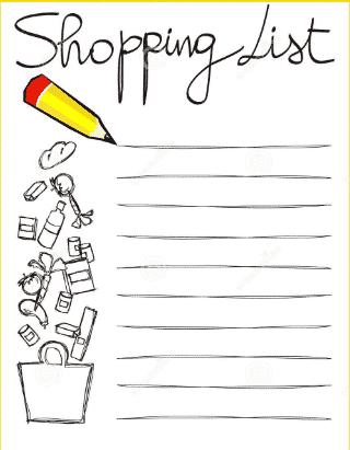 Shopping List: Pembahasan Dan Contoh Lengkap Dalam bahasa Inggris