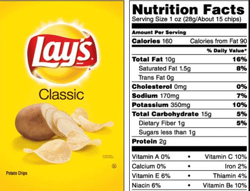 Contoh Food Label 1