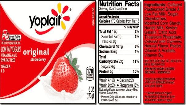 Contoh Food Label 2