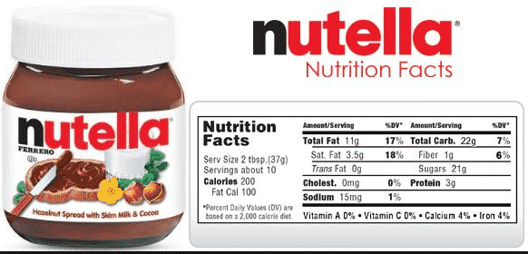 Contoh Food Label 3
