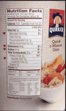Contoh Food Label 4